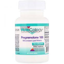 Nutricology, Pregnenolone 100, 60 Scored Tablets Zagraniczne