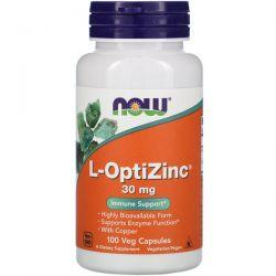 Now Foods, L-OptiZinc, 30 mg, 100 Veg Capsules Pozostałe