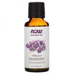 Now Foods, Essential Oils, Lavender, 1 fl oz (30 ml) Zagraniczne