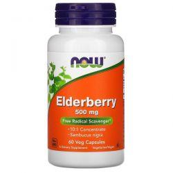 Now Foods, Elderberry, 500 mg, 60 Veg Capsules Pozostałe