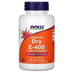 Now Foods, Vegetarian Dry E-400, 268 mg (400 IU), 100 Veg Capsules Pozostałe