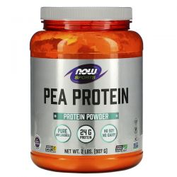 Now Foods, Sports, Pea Protein, Pure Unflavored, 2 lbs (907 g) Pozostałe