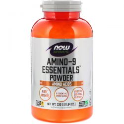 Now Foods, Sports, Amino-9 Essentials Powder, 11.64 oz (330 g) Pozostałe