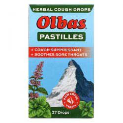 Olbas Therapeutic, Pastilles Herbal Cough Drops, Maximum Strength, 27 Drops Pozostałe