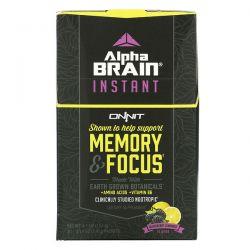 Onnit, AlphaBRAIN Instant, Memory & Focus, Blackberry Lemonade Flavor, 30 Packets, 0.14 oz (3.9 g) Each