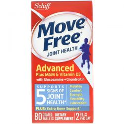 Schiff, Move Free, Joint Health, 80 Coated Tablets Pozostałe