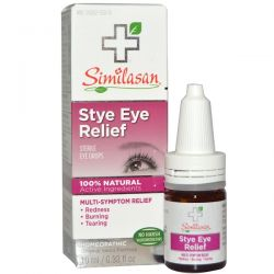 Similasan, Stye Eye Relief, Sterile Eye Drops, 0.33 fl oz (10 ml) Pozostałe