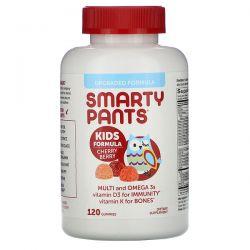 SmartyPants, Kids Formula, Multi and Omega 3s, Cherry Berry, 120 Gummies Pozostałe
