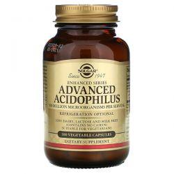 Solgar, Advanced Acidophilus, 100 Vegetable Capsules Pozostałe
