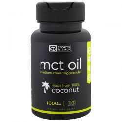 Sports Research, MCT Oil, 1,000 mg, 120 Softgels Pozostałe