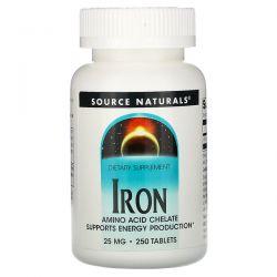 Source Naturals, Iron, 25 mg, 250 Tablets Pozostałe
