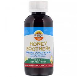 Sundown Naturals Kids, Honey Soothers, Daytime Cough Syrup, Buzzin' Berry, 4 oz (118 ml)