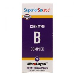 Superior Source, CoEnzyme B Complex, 60 Instant Dissolve Tablets