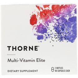 Thorne Research, Multi-Vitamin Elite, 2 Bottles, 90 Capsules Each