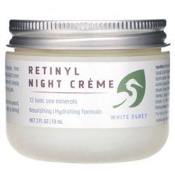 White Egret Personal Care, Retinyl Night Cream, 2 fl oz (59 ml) Pozostałe