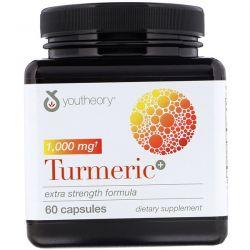 Youtheory, Turmeric, Extra Strength Formula, 1,000 mg, 60 Capsules Zagraniczne