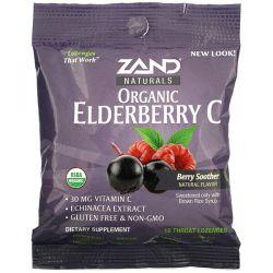 Zand, Organic Elderberry C, Berry Soother, 18 Throat Lozenges Zdrowie i Uroda