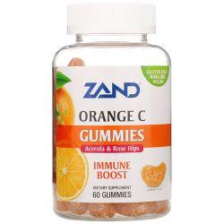 Zand, Orange C Gummies, Acerola & Rose Hips, Immune Boost, 60 Gummies Zdrowie i Uroda