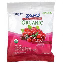 Zand, Organic Herbalozenge, Cranberry Raspberry, 18 Lozenges Zdrowie i Uroda