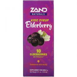 Zand, Kids Elderberry Syrup, 4 fl oz (120 ml) Zdrowie i Uroda