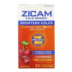 Zicam, Cold Remedy, Lozenges, Wild Cherry , 25 Individually Wrapped Lozenges Zdrowie i Uroda