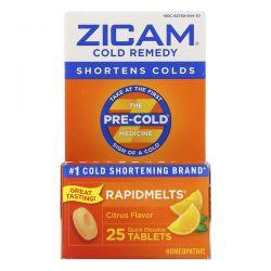 Zicam, Cold Remedy, RapidMelts, Citrus , 25 Quick Dissolve Tablets Zdrowie i Uroda