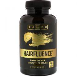 Zhou Nutrition, Hairfluence, Premium Hair Growth Formula, 60 Veggie Capsules Zdrowie i Uroda