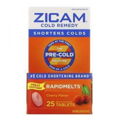 Zicam, Cold Remedy, RapidMelts, Cherry, 25 Quick Dissolve Tablets Zagraniczne