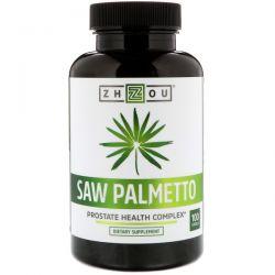 Zhou Nutrition, Saw Palmetto, Prostate Health Complex, 100 Capsules Zdrowie i Uroda