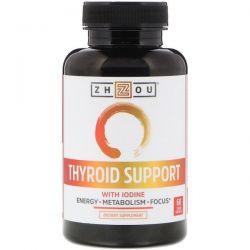 Zhou Nutrition, Thyroid Support with Iodine, 60 Veggie Capsules Zdrowie i Uroda