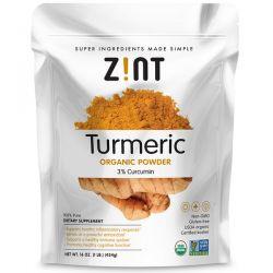 Zint, Turmeric Organic Powder, 16 oz (454 g) Zdrowie i Uroda