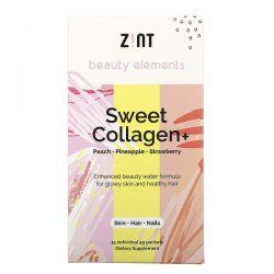 Zint, Sweet Collagen, Peach, Pineapple, Strawberry, 15 Individual Packets, 5 g Each Zdrowie i Uroda
