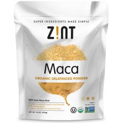 Zint, Maca, Organic Gelatinized Powder, 16 oz (454 g) Zdrowie i Uroda