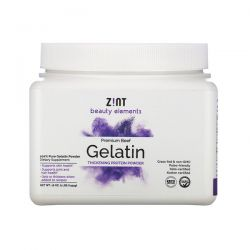 Zint, Premium Beef Gelatin, Thickening Protein Powder, 16 oz (454 g) Zdrowie i Uroda