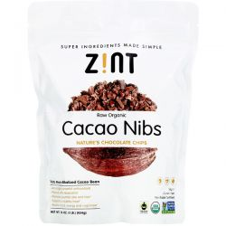 Zint, Raw Organic Cacao Nibs, 16 oz (454 g) Zdrowie i Uroda
