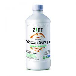 Zint, Organic Yacon Syrup, Prebiotic Sweetener , 8 fl oz (236 ml) Zdrowie i Uroda