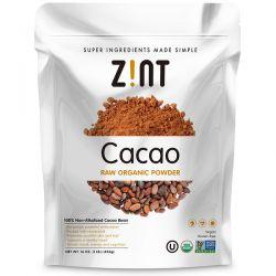 Zint, Raw Organic Cacao Powder, 16 oz (454 g) Zdrowie i Uroda