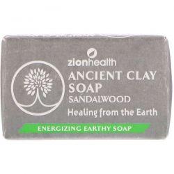 Zion Health, Ancient Clay Soap, Sandalwood, 6 oz (170 g) Zdrowie i Uroda