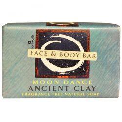 Zion Health, Ancient Clay Natural Soap, Moon Dance, Fragrance Free, 6 oz (170 g) Zdrowie i Uroda