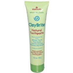Zion Health, ClayBrite, Natural Toothpaste, Natural Mint Flavor, 3.2 oz (92 g) Zdrowie i Uroda