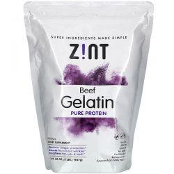 Zint, Beef Gelatin, Pure Protein, 32 oz (907 g) Zdrowie i Uroda