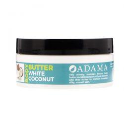 Zion Health, Adama, Body Butter with Argan Oil, White Coconut, 4 oz (118 g) Zdrowie i Uroda