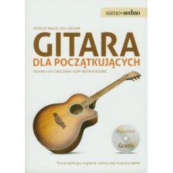 Gitara dla początkujących. Techniki gry, ćwiczenia i filmy instruktażowe + DVD - Mateusz Małek - Książka