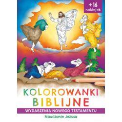 Kolorowanki biblijne. Wydarzenia Nowego Testamentu. Nauczanie Jezusa - Natalia Ginalska, Anna Wiśnicka - Książka