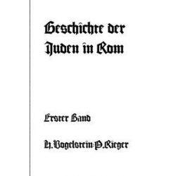 Geschichte der Juden in Rom - Erster Band Pozostałe