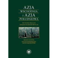 Azja Wschodnia i Azja Południowa w stosunkach międzynarodowych Bezpieczeństwo-Gospodarka-Cywilizacj - Książka
