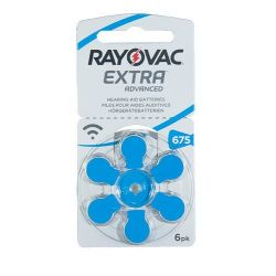 Rayovac Extra 675 EMF / PR44 baterie do aparatów słuchowych - 6szt. - Do aparatów słuchowych - Baterie