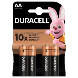 Baterie Alkaliczne typ AA LR6 1,5V (paluszki duże) - 4szt. Duracell - Paluszki - Baterie