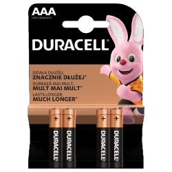Baterie Alkaliczne typ AAA LR03 1,5V (paluszki małe) - 4szt. Duracell - Paluszki - Baterie