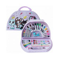 Littlest Pet Shop. Przybory do malowania w walizce - Zabawka, od 3 lat
